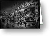 Carnie Greeting Cards - Carnival - Game-A-Rama Greeting Card by Mike Savad