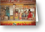 Vendor Greeting Cards - Carnival - The Candy Shack Greeting Card by Mike Savad