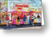 Sell Greeting Cards - Carnival - The variety is endless Greeting Card by Mike Savad