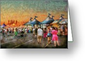 Tent Greeting Cards - Carnival - Who wants Gyros Greeting Card by Mike Savad