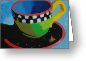 Kitchen Ware Greeting Cards - Carnival Cup III Greeting Card by Donald Amorosa