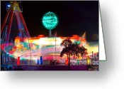 Storm Posters Greeting Cards - Carnival Excitement Greeting Card by James Bo Insogna
