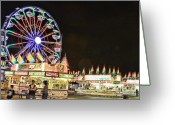 Storm Posters Greeting Cards - carnival Fun and Food Greeting Card by James Bo Insogna