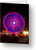 Storm Posters Greeting Cards - Carnival Hypnosis Greeting Card by James Bo Insogna