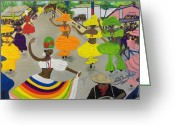 Champ De Mars Haiti Greeting Cards - Carnival In Port-au-prince Haiti Greeting Card by Nicole Jean-Louis