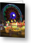 Storm Posters Greeting Cards - Carnival Greeting Card by James Bo Insogna