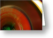 High Wheel Greeting Cards - Carnival Lights Greeting Card by Michelle Calkins
