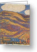 Colors Of Autumn Greeting Cards - Carnival of Autumn Greeting Card by Marsden Hartley
