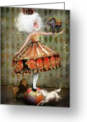 Haired Greeting Cards - Carnivale Greeting Card by Jessica Grundy
