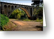 Lyle  Huisken Greeting Cards - Carolina Bridge Greeting Card by Lyle  Huisken