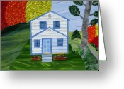 Rural Glass Art Greeting Cards - Carolina Jewel Greeting Card by Charles McDonell