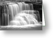 Caron Greeting Cards - Caron Falls Greeting Card by Larry Ricker