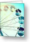 Fairgrounds Greeting Cards - Carousel 2 Greeting Card by Kim Fearheiley