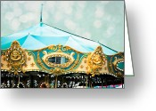 Fairgrounds Greeting Cards - Carousel 3 Greeting Card by Kim Fearheiley