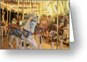 Carosel Greeting Cards - Carousel Horse 2 Greeting Card by Anita Burgermeister