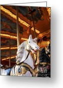 Merry-go-round Greeting Cards - Carousel horse Greeting Card by Fabrizio Troiani