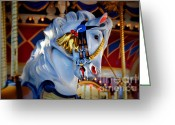 Lyle  Huisken Greeting Cards - Carousel Greeting Card by Lyle  Huisken