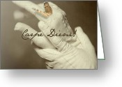Health  Pyrography Greeting Cards - Carpe Diem Greeting Card by Tove Jessica Frank