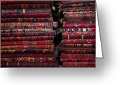 Rugs Greeting Cards - Carpets And Rugs Sold By Vendor Greeting Card by Aj Wilhelm