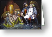 Napoleon Painting Greeting Cards - Carpoleon Bonafish Greeting Card by Patrick Anthony Pierson