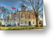 Mississippi County Greeting Cards - Carroll County Courthouse Greeting Card by Mark Martin