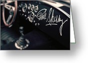Carroll Shelby Photo Greeting Cards - Carroll Shelby Signed Dashboard Greeting Card by Paul Bartell