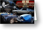 Carroll Shelby Photo Greeting Cards - Carroll Shelby Tribute Greeting Card by Bill Dutting