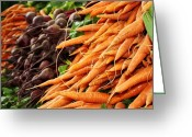 Pdx Greeting Cards - Carrots and Beets Greeting Card by Cathie Tyler