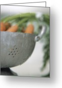 Food And Beverage Greeting Cards - Carrots Greeting Card by Cristina Pedrazzini
