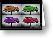Old Car Door Greeting Cards - Cars Greeting Card by Joan Carroll