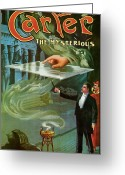 Magic Tricks Greeting Cards - Carter The Mysterious Greeting Card by Unknown
