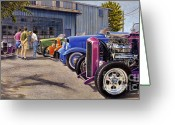 Street Rods Greeting Cards - Carversation Greeting Card by Craig Shillam
