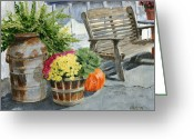 Carversville Greeting Cards - Carversville General Store Greeting Card by Margie Perry