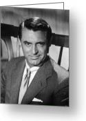 20th Century Photo Greeting Cards - Cary Grant (1904-1986) Greeting Card by Granger