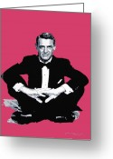 Movie Legend Greeting Cards - Cary Grant Greeting Card by David Lloyd Glover