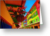 Guatape Greeting Cards - Casa Dulce Greeting Card by Skip Hunt