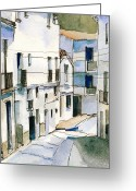 Casares Greeting Cards - Casares Street Greeting Card by Stephanie Aarons