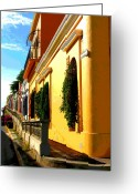 Darian Day Greeting Cards - Casas on the Hill by Darian Day Greeting Card by Olden Mexico