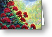 Flowers Direct Greeting Cards - Cascade of Geraniums Greeting Card by Richard T Pranke