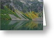 Alpine Panorama Greeting Cards - Cascades Rainy Lake 9160 Greeting Card by Michael Peychich