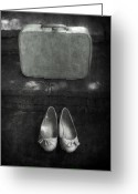 Old Fashion Greeting Cards - Case And Shoes Greeting Card by Joana Kruse