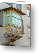 Baroque Greeting Cards - Casement Window into Weimars Past Greeting Card by Christine Till