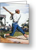 Athlete Greeting Cards - Casey At The Bat, 1888 Greeting Card by Granger