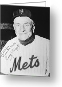 Athlete Greeting Cards - Casey Stengel (1890-1975) Greeting Card by Granger