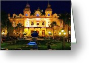 Nights Greeting Cards - Casino Monte Carlo Greeting Card by Jeff Kolker