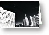 Mgm Greeting Cards - Casino Noir Greeting Card by John Rizzuto