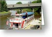 Fall River Scenes Greeting Cards - Cass River Bavarian Belle Greeting Card by LeeAnn McLaneGoetz McLaneGoetzStudioLLCcom