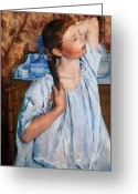 Nightgown Greeting Cards - Cassatt: Girl, 1886 Greeting Card by Granger