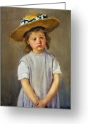 Cassatt Greeting Cards - CASSATT: GIRL, c1886 Greeting Card by Granger