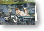 Rowboat Greeting Cards - Cassatt: Summertime, 1894 Greeting Card by Granger